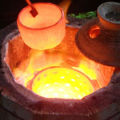 image of a raku kiln