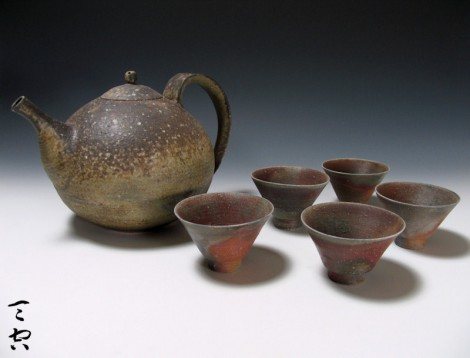 Dai Green Tea Set by Nagai Ken: click to enlarge