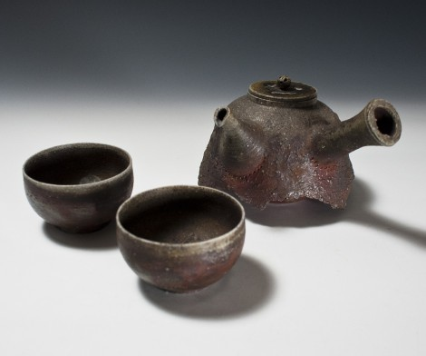Tetsubin Green Tea Set by Nagai Ken: click to enlarge