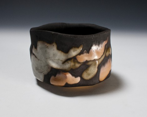 Kokuyōsai Kofuku Tea Bowl by Suzuki Tomio: click to enlarge