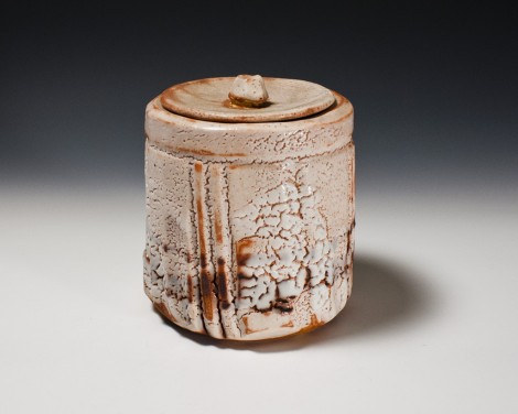 Shino Fresh Water Jar by Suzuki Tomio: click to enlarge