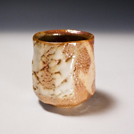 Yōhen-kin Shino Green Tea Cup by Suzuki Tomio: click to enlarge