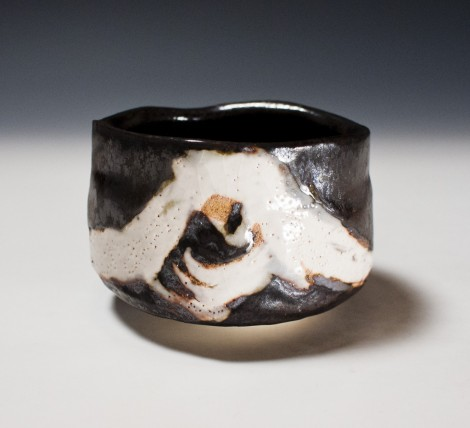 Kokuyōsai Tea Ceremony Bowl by Suzuki Tomio: click to enlarge