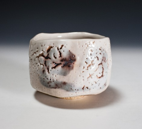 Shino Tea Ceremony Bowl by Suzuki Tomio: click to enlarge