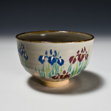 Shōbu Tea Ceremony Bowl by Kotoura Kiln: click to enlarge