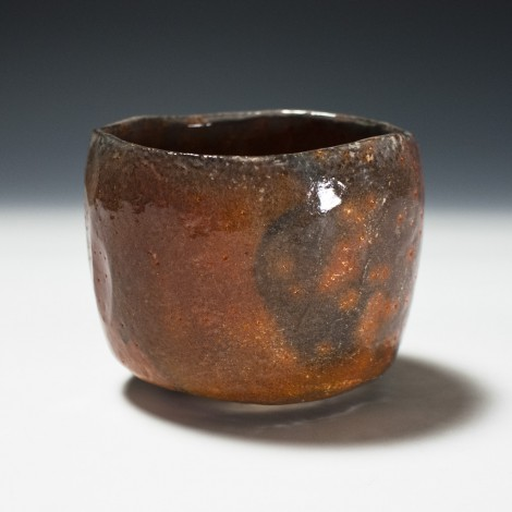 Aka Raku Tea Ceremony Bowl by Wada Tōzan: click to enlarge