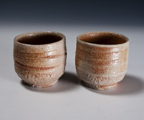 Yōhen Green Tea Cup Set by Wada Hiroaki: click to enlarge