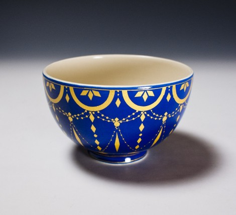 Kirikané Tea Ceremony Bowl by Wada Tōzan: click to enlarge
