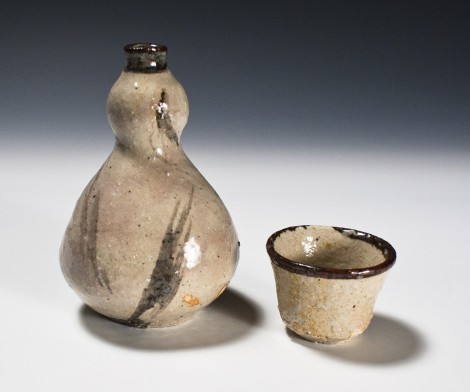 Tetsusai Gourd Saké Set by Ikai Yūichi: click to enlarge