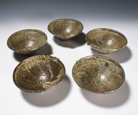 Katakuchi Bowl Set by Ikai Yūichi: click to enlarge