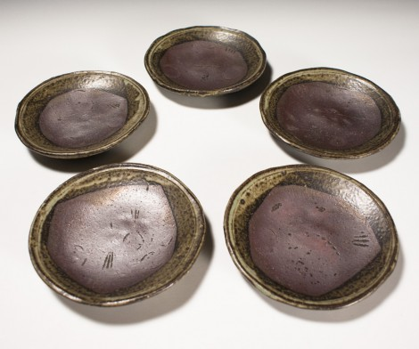 Tetsusai Side Plate Set by Ikai Yūichi: click to enlarge