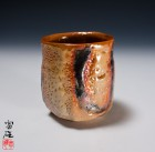 Madara-kin Shino Green Tea Cup by Suzuki Tomio