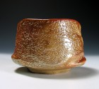 Yōhen-kin Shino Tea Ceremony Bowl by Suzuki Tomio